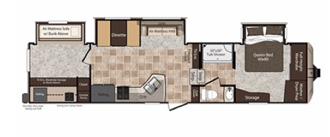 Rental Trailer Floor Plan