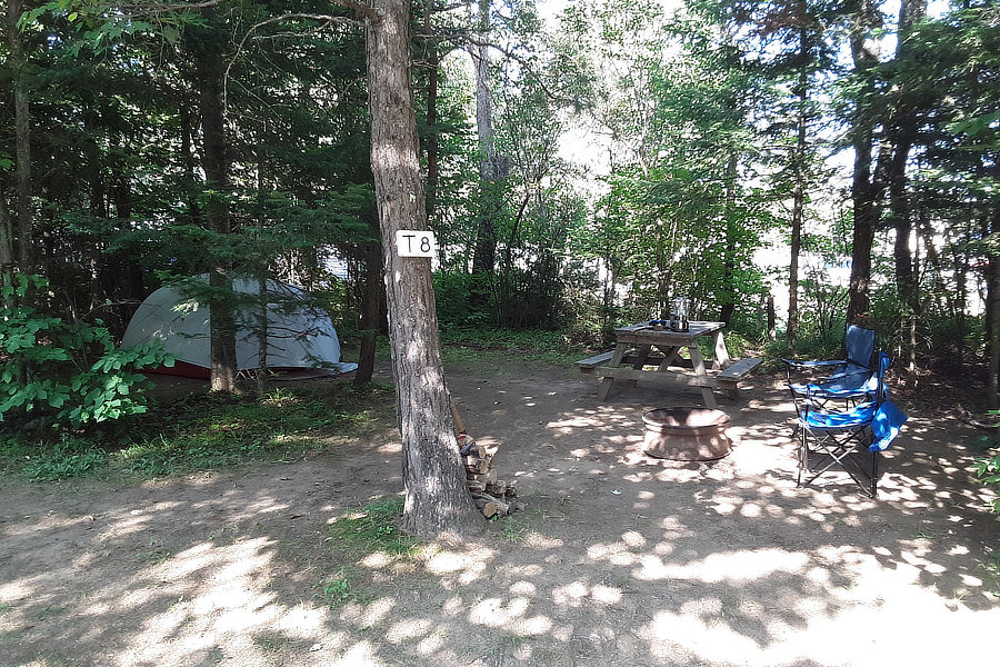 Tent Site at Along the River Campground & Cabins